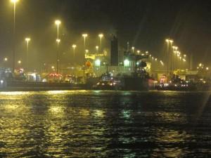 Entrando en el Canal de Panamá