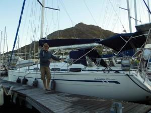 SIKKIM amarrado en False Bay Yacht Club